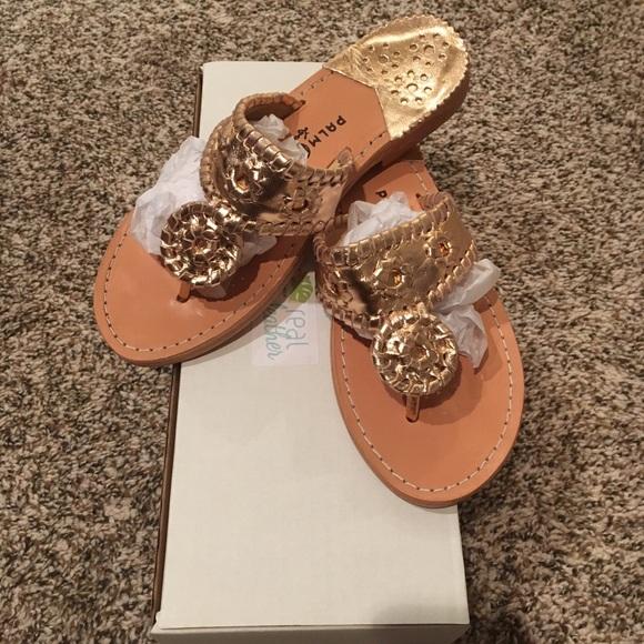 64f6e626000d NIB Palm Beach Sandals Rose Gold 7.5 Classic